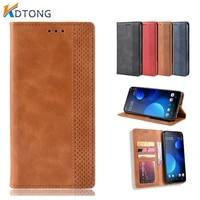vintage flip leather case for alcatel 1a 1b 1s 1v 1se 1s 1l 3 3x 3v 3l invisible holder with card holder wallet cover coque