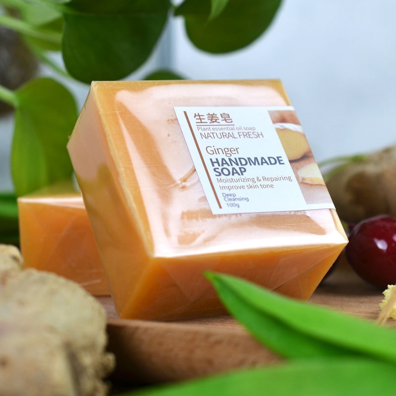 100g Goat/Milk/Silk /Horse Oil /Ginger Soap Sea Salt Essential Oil Natural  Handmade Facial Cleansing Bath Soap Skin Care