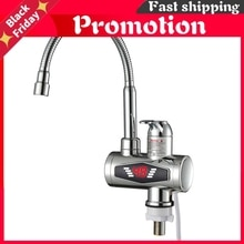 Stainless Steel Instant Hot Faucet Instantaneous Water Heater Kitchen Hot Tap Tankless Heaters 220v