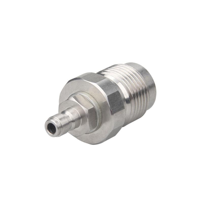 Botella de buceo de liberación rápida, adaptador de ajuste DIN 232 y 300 Bar 5/8BSP a 1/8BSP para llenado de aire de Paintball PCP