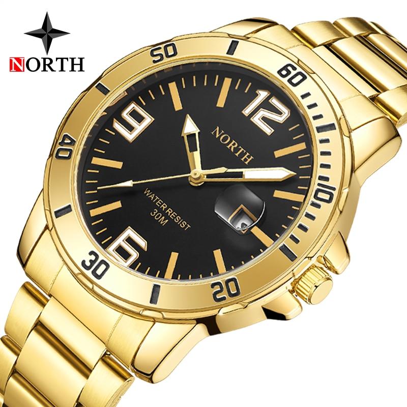 Luxus Marke Männer Neue Uhren NORDEN Fashio Business Edelstahl Quarz Uhren Lässige Wasserdichte Uhren Relogio Masculino
