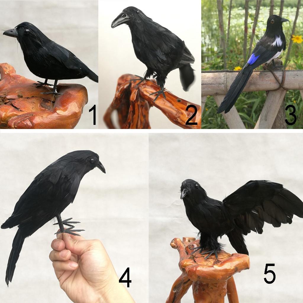 Artificial Realistic Woodland Birds for Garden Wedding Halloween Party DIY Decor  - buy with discount