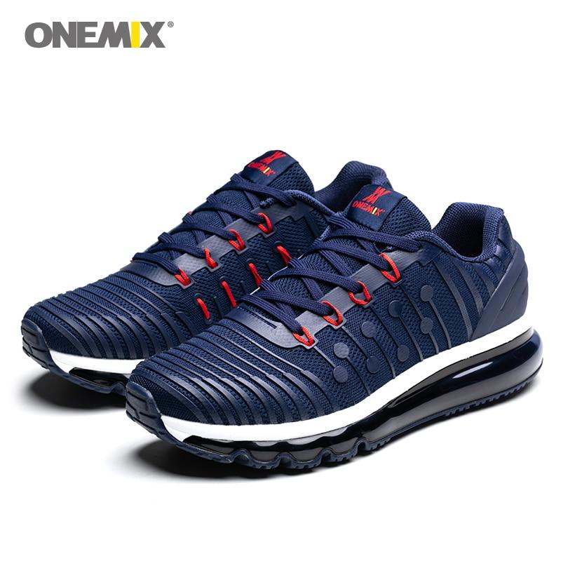 ONEMIX احذية الجري الجديدة للرجال أحذية رياضية في الهواء الطلق مريحة امتصاص الصدمات سلة أحذية تدريب رياضية كبيرة الحجم