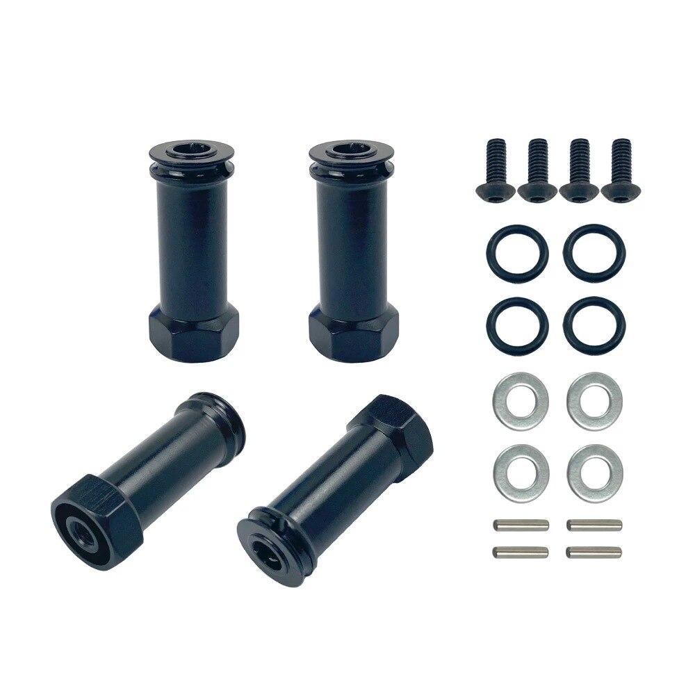 Aluminum 12mm Wheel Extension Adapter 25mm 30mm Wheel Drive Hub Hex For 1/10 Traxxas Slash 4x4 4WD Option Parts