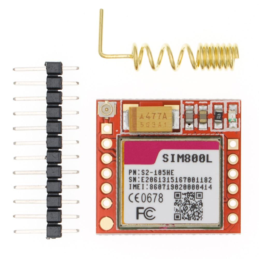 Мини маленький SIM800L GPRS GSM модуль карта MicroSIM Ядро Беспроводная плата четырехдиапазонный TTL Серийный порт с антенной