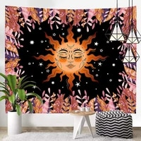 psychedelic sun printed tapestry home decor tapestry beach blanket wall decoration decoration mural sun god print sandy beach