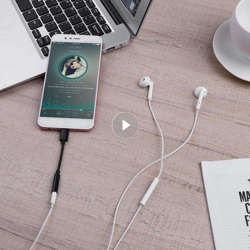 Adaptador USB Tipo C para auriculares, 3,5 Mm, macho a 3,5mm, convertidor...