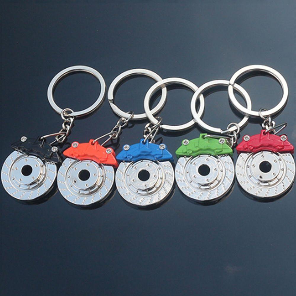 LLavero de disco de piezas de automóvil de Metal bonito, pinza de cubo, llavero para coche, llavero colgante para hombres, regalo, baratijas