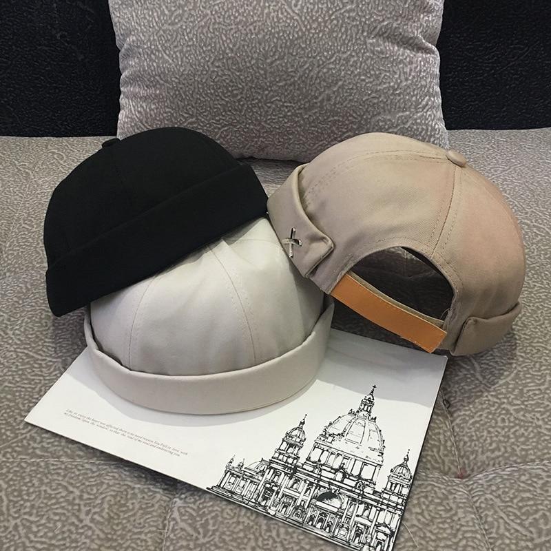 CSBL عادية قبعة بتصميم هيب هوب خمر قبة قبعة رجالي بلون المخملية بيني للرجال دوكر بحار العقص Brimless الجمجمة قبعات