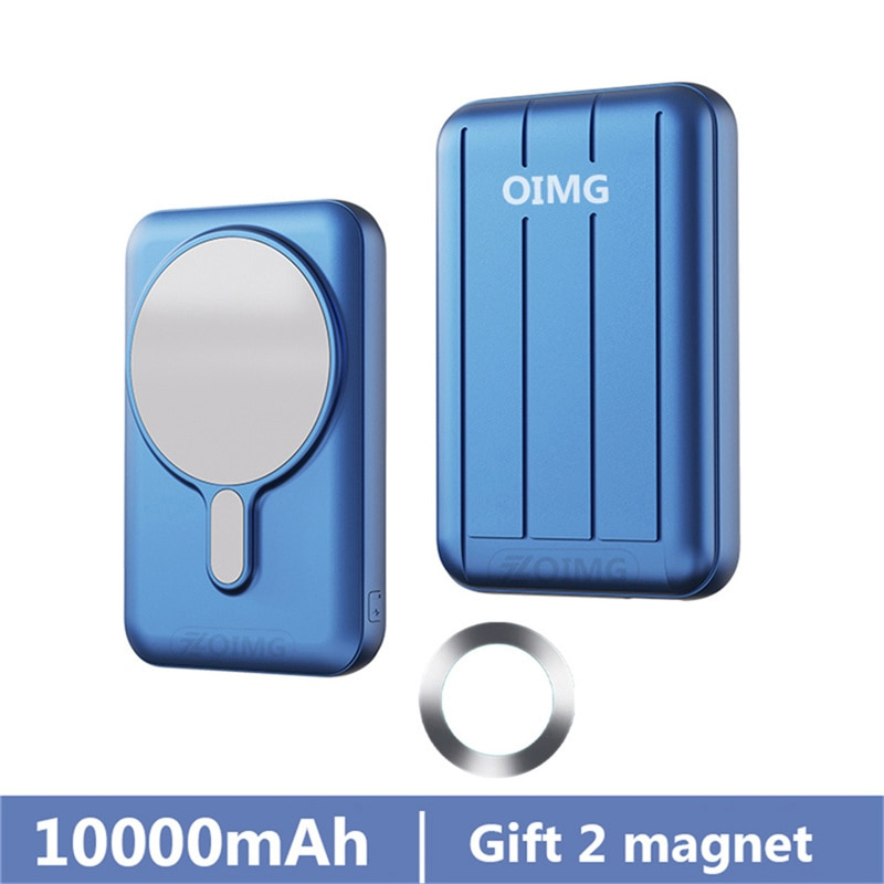 Power Bank 10000mAh For magsafe 15W Magnetic Fast Wireless powerbank Charger For iphone xiaomi Samsung QI Mobile Phone battery