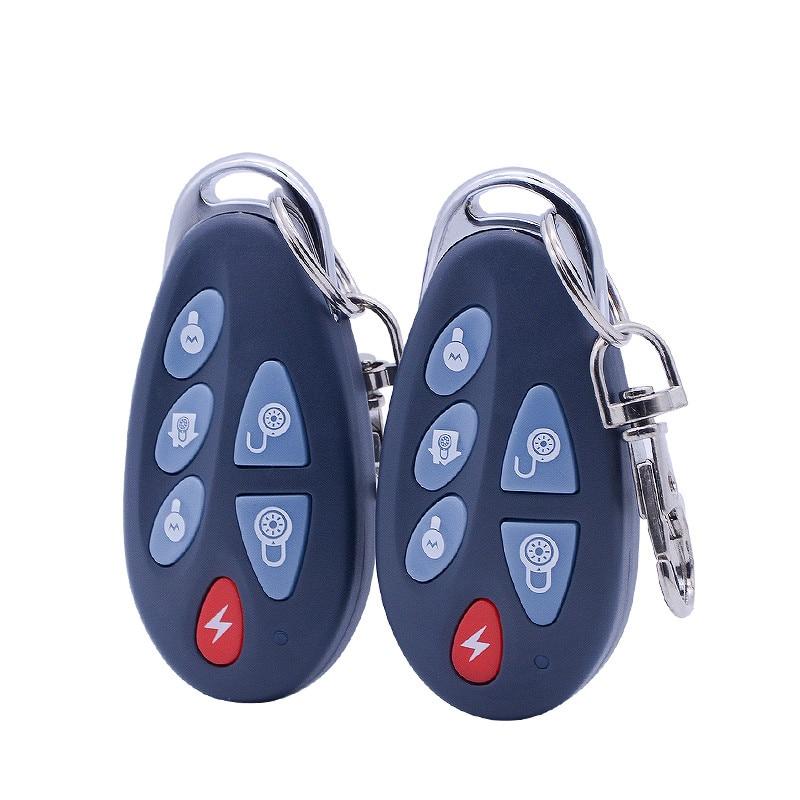 Focus 433Mhz 868Mhz drahtlose arm entwaffnen Fernbedienung 6 funktion schlüssel Drahtlose Fernbedienung Alarm Keyfob Home Alarm Controller