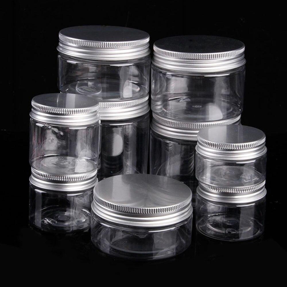 1 шт., прозрачная пластиковая алюминиевая крышка, жестяная бутылка, пустая банка, Косметический бальзам для губ, контейнер, масло, воск, жестяной горшок, инструменты для домашнего хранения
