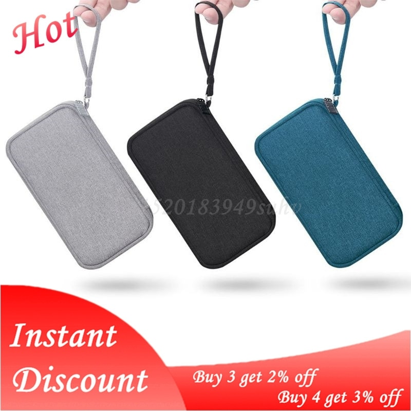 Travel Portable Durable Polyester Power Bank Pouch Storage Bag Protective Carrying Case Pack for Ear