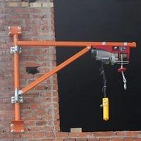 wall crane bracket electric hoist bracket small crane hoist hoist household shelf rotating decoration hoist 220v