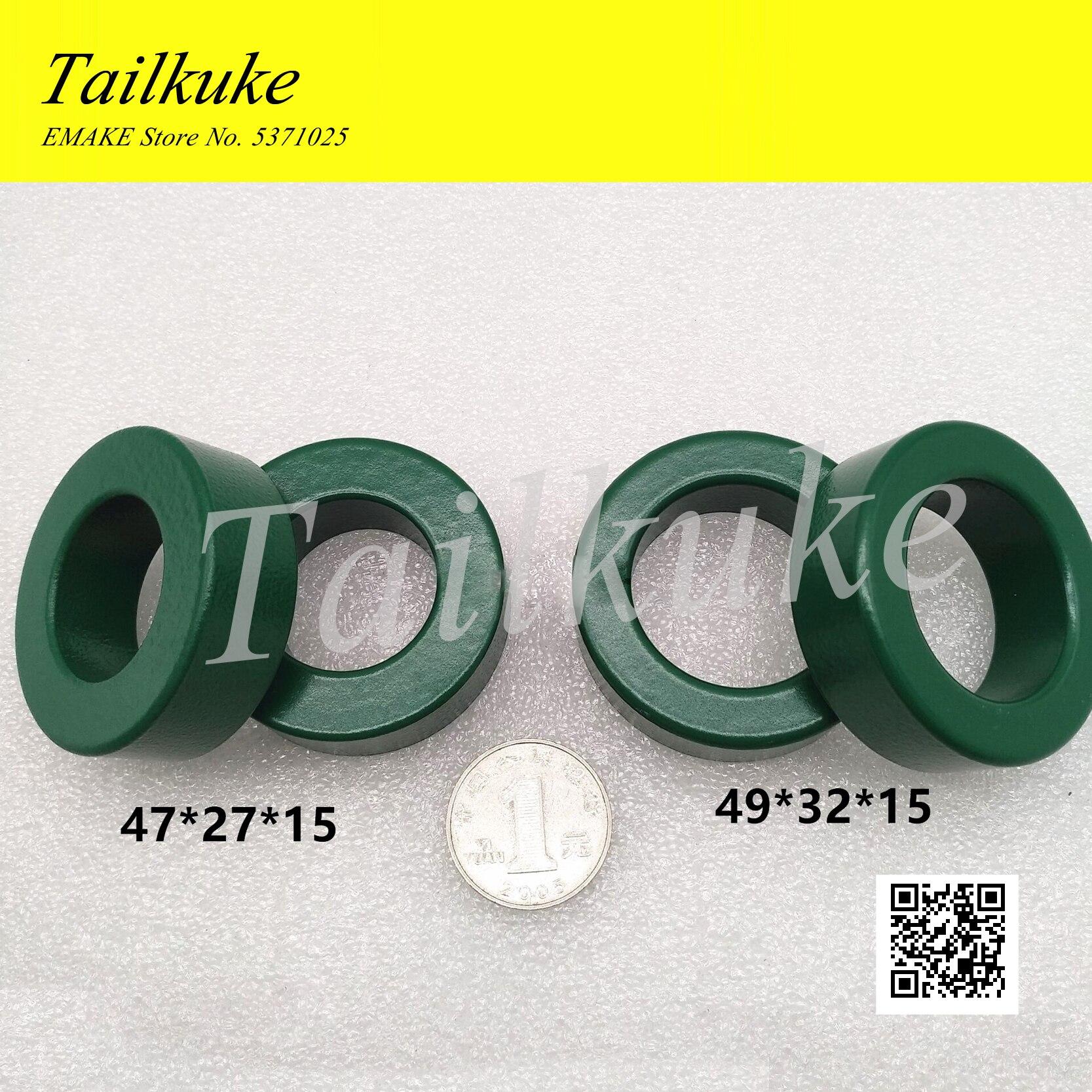 Manganeso de Zinc magnético de ferrita anillo * 47*27*15/49*32*15 Filtro Anti-interferencia Anillo Verde PC40 Material