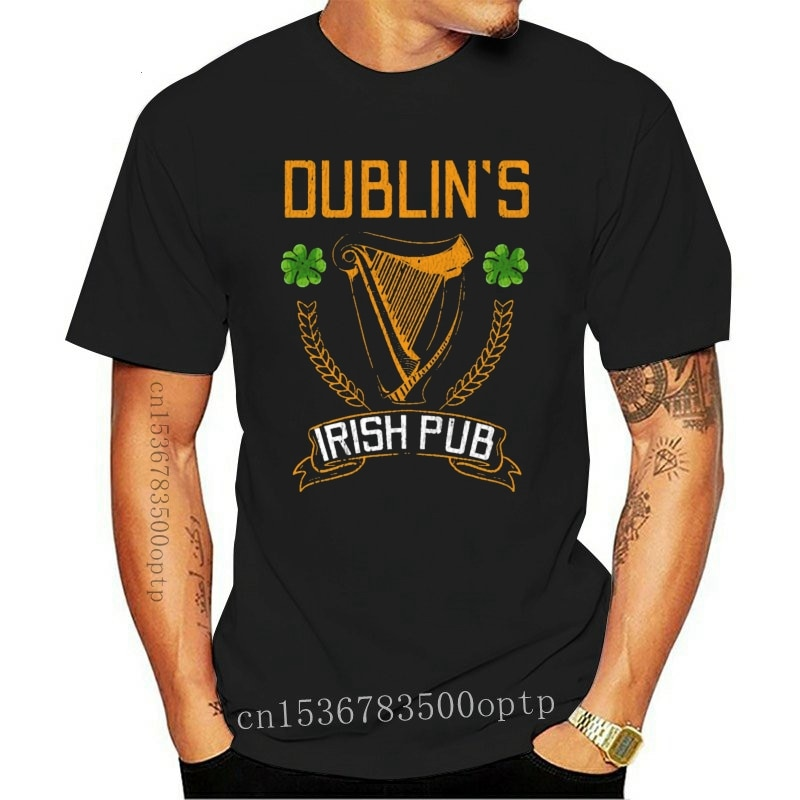 New Dublin Irish Pub Eire St Patricks Day Gift T Shirt Sunlight 2021 Fashion Cotton Summer Standard Normal Knitted S-4XL Shirt