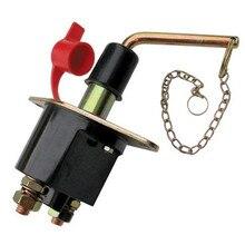 Car Auto Battery Isolator Switch Cut Off Heavy Duty Power Kill with Metal Key Car Power Button 12V 200A Jly29