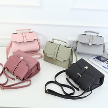 Fashion small crossbody bag 2019 mini PU leather shoulder Messenger bag arrow small square bag solid color ladies mobile wallet