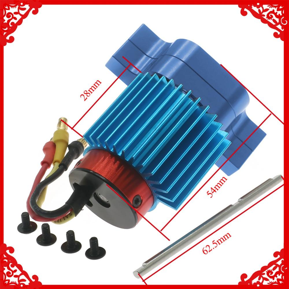Motor sin escobillas 380 con caja de cambios de aleación + engranajes de acero para WPL Henglong B14 B16 B24 B36 Ural Q60 Q61 Q62 Q63 Q64 4x4 parte