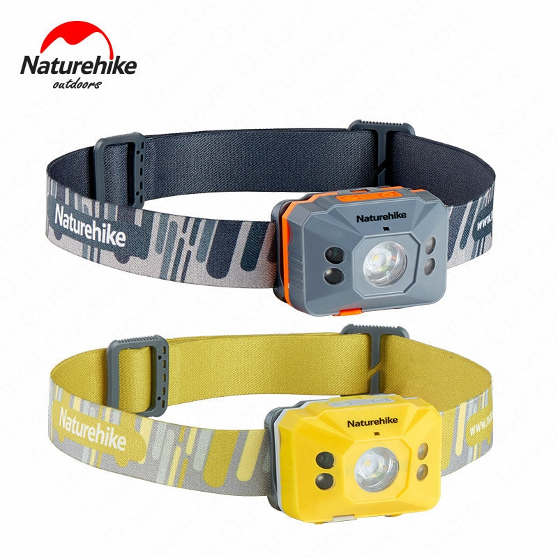 Naturehike exterior LED Koplamp portátil faro 4 modos interruptor de inducción ultraligero impermeable Camping Running senderismo usos