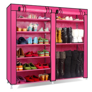 Simple shoes rack multi story room non slip fabric powder shoes small shoes rack Home Economics and space saving