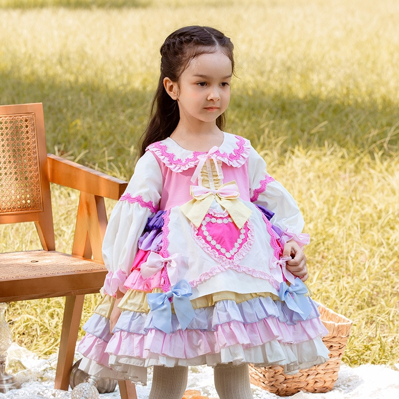 Spring Autumn Dress for Girls Baby Long Sleeve Lolita Girl Ball Gown Wedding Dress Girl Multicolor Princess Party Vestidos enlarge