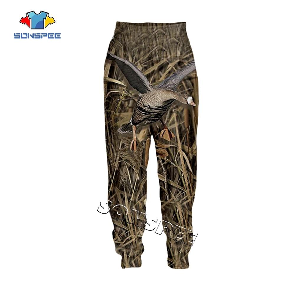 SONSPEE Novelty Streetwear Women Fashion Casual Trousers Unisex Long Pant Animal Hunting Hunter 3D Print Harajuku Men Sweatpants