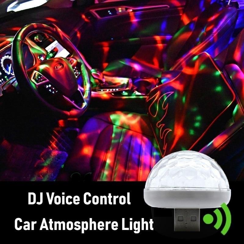 Lâmpada de luz usb para controle de música, lâmpada decorativa com som para mercedes benz w203 w204 w205 w209 w210 w211 w212 w154 w221