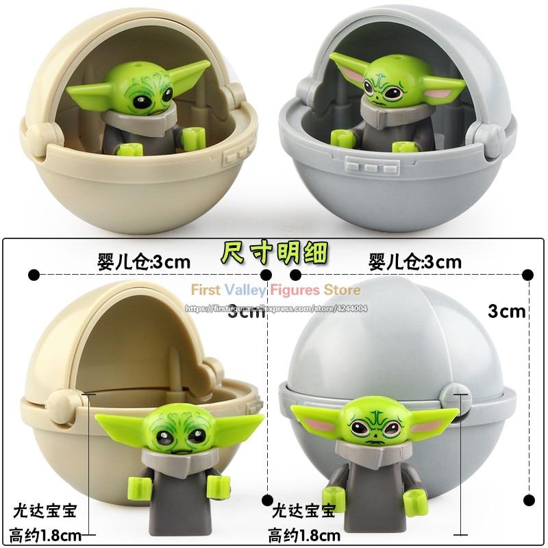 Set de juguetes de Star W para niños, lote de 20 unidades de Yoda, BabyGifts, juguetes para niños, accesorios, maquetas de bloques XP300, cuna de bebé, Starw Toys Kt1034