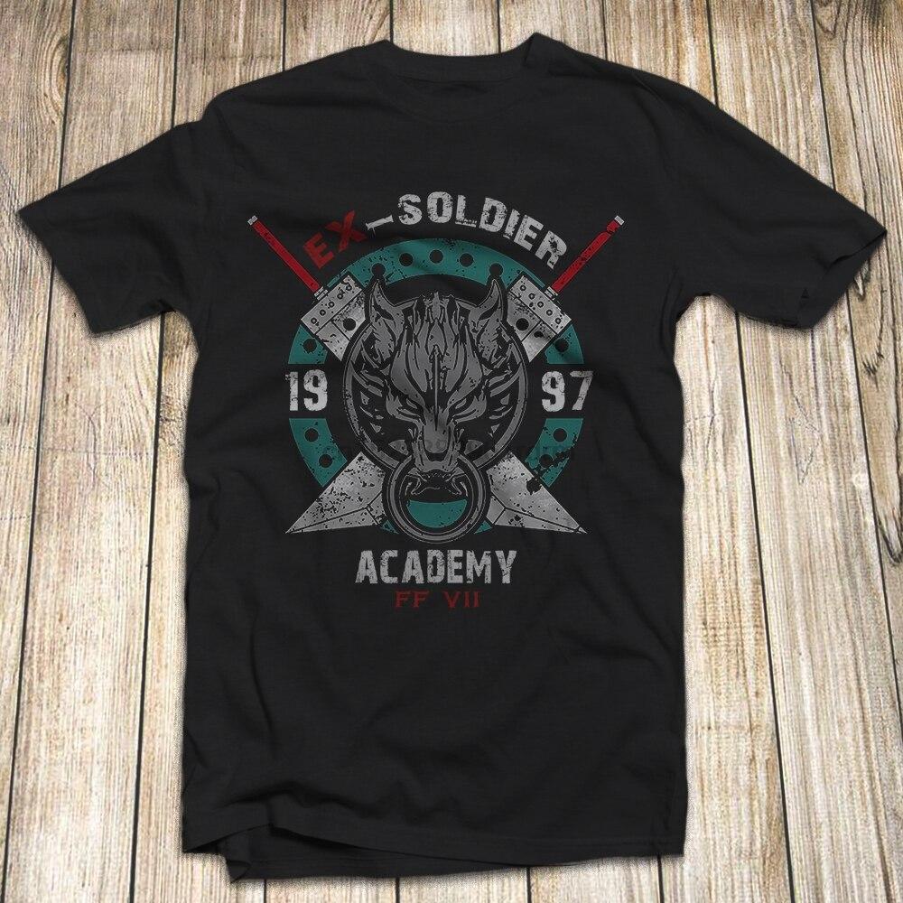 Final Fantasy 7 Cloud Strife Mens T Shirt talla S-5XL Hecho en USA Ex soldado verano cuello redondo tee envío gratis camiseta barata