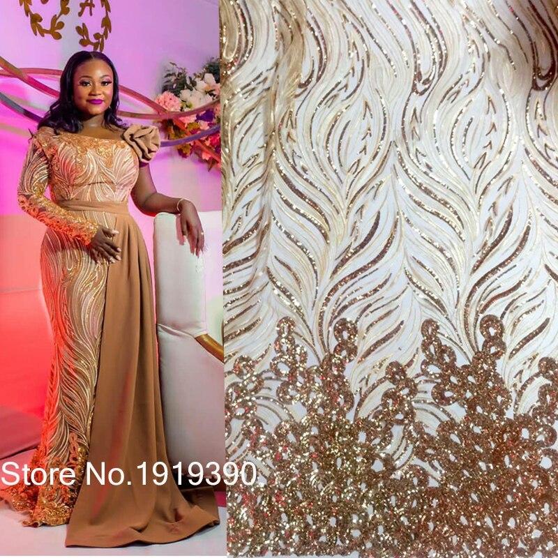 Tela de encaje de lentejuelas, tela de encaje africano 2019, encaje de alta calidad para fiesta, telas de encaje nigeriano, tela de encaje de tul francés J10366