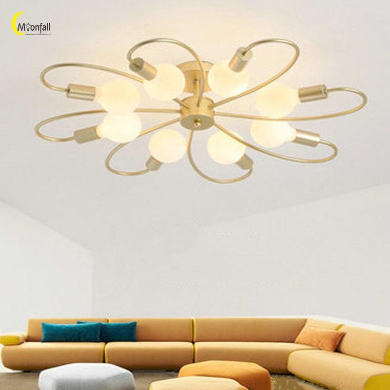 Cmoonfall Luces De Techo oro nórdico araña De Techo Led Lamparas De brillo Moderne suspensión luminaria iluminación interior