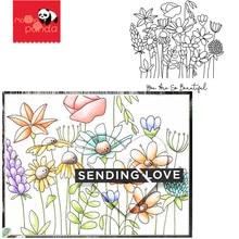 زهرة المعادن قطع يموت Stamps Stencil DIY بها بنفسك ألبوم سكرابوكينغ الزخرفية النقش الحرفية يموت قطع ورقة بطاقات أداة