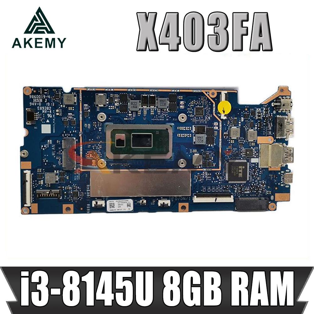 X403FA اللوحة ل ASUS VivoBook X403FA L403FA L403FA اللوحة المحمول i3-8145U وحدة المعالجة المركزية 8 جيجابايت RAM الأصلي 100% اختبار
