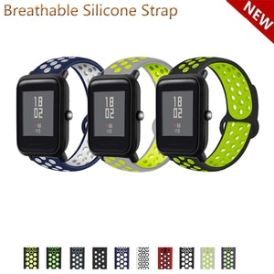 20mm 22mm Silicone Band Strap for Huami Amazfit Bip Lite S U for Huami GTS 2 GTR 42mm Replacement Watchband