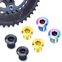 4pcs bicycle chainwheel screws titanium tc4 mtb road bike chainring wheel bolt cycling crankset screws set bike accessories