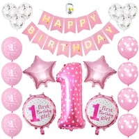 girl or boy 1st birthday 32inch number balloons birthday party decorations baby shower kids party balloon