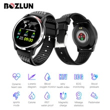 Bozlun W3 Smartwatch Misuratore di Pressione Sanguigna di Ossigeno Monitor di Frequenza Cardiaca Salute Fitness Tracker Braccialetto Intelligente Per Huawei IOS Android