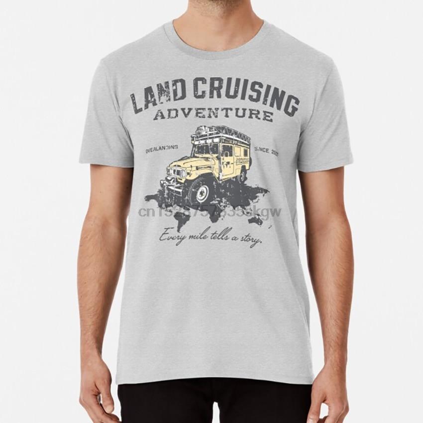 Every Mile Tells a Story - grey print T shirt landcruising adventure every mile tells a story since 2003 fj40 bj45 4x4 overland