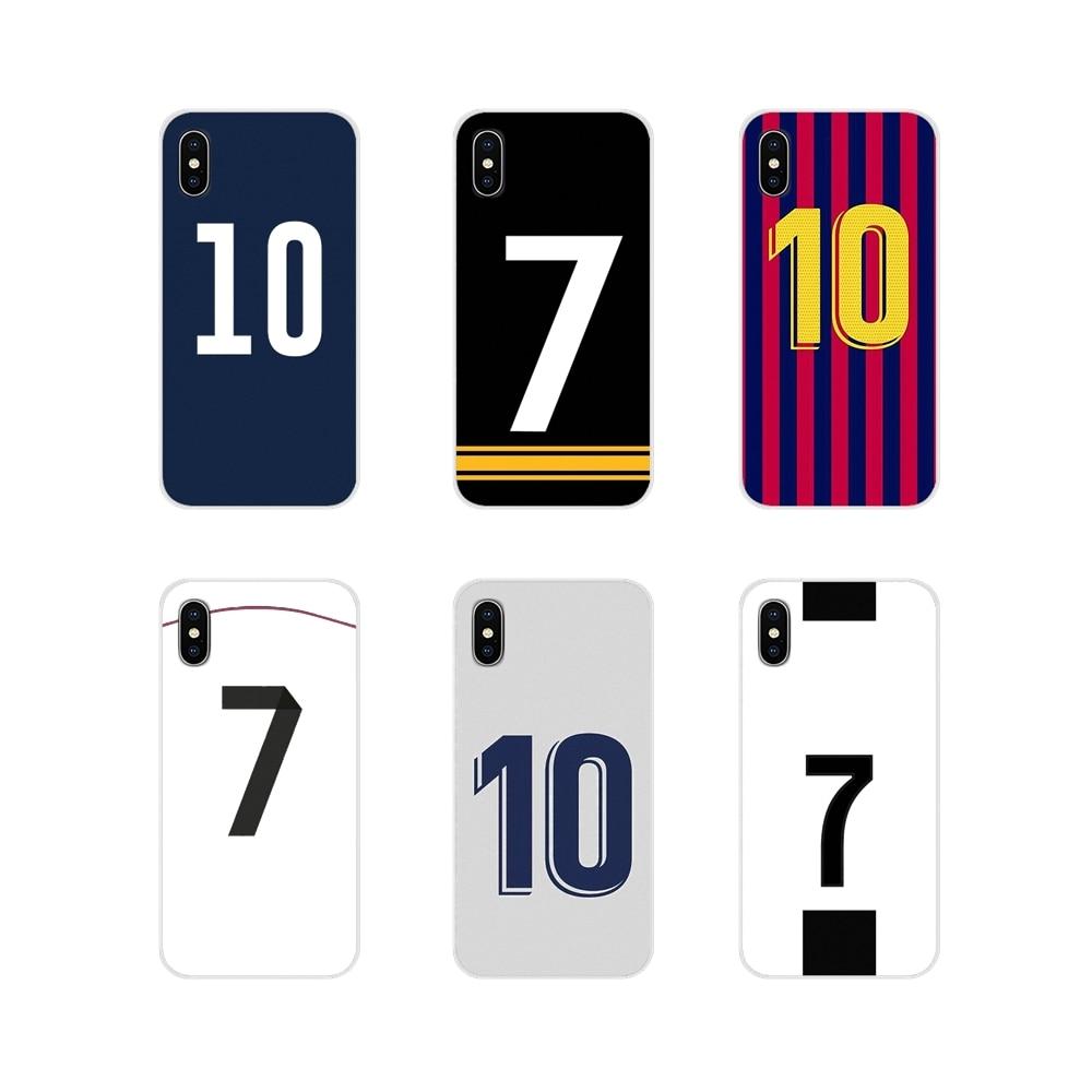 Fundas de teléfono para Huawei G7, G8, P8, P9, P10, P20, P30 Lite, Mini Pro, P, Smart Plus, 2017, 2018, 2019, número de fútbol, 10 accesorios