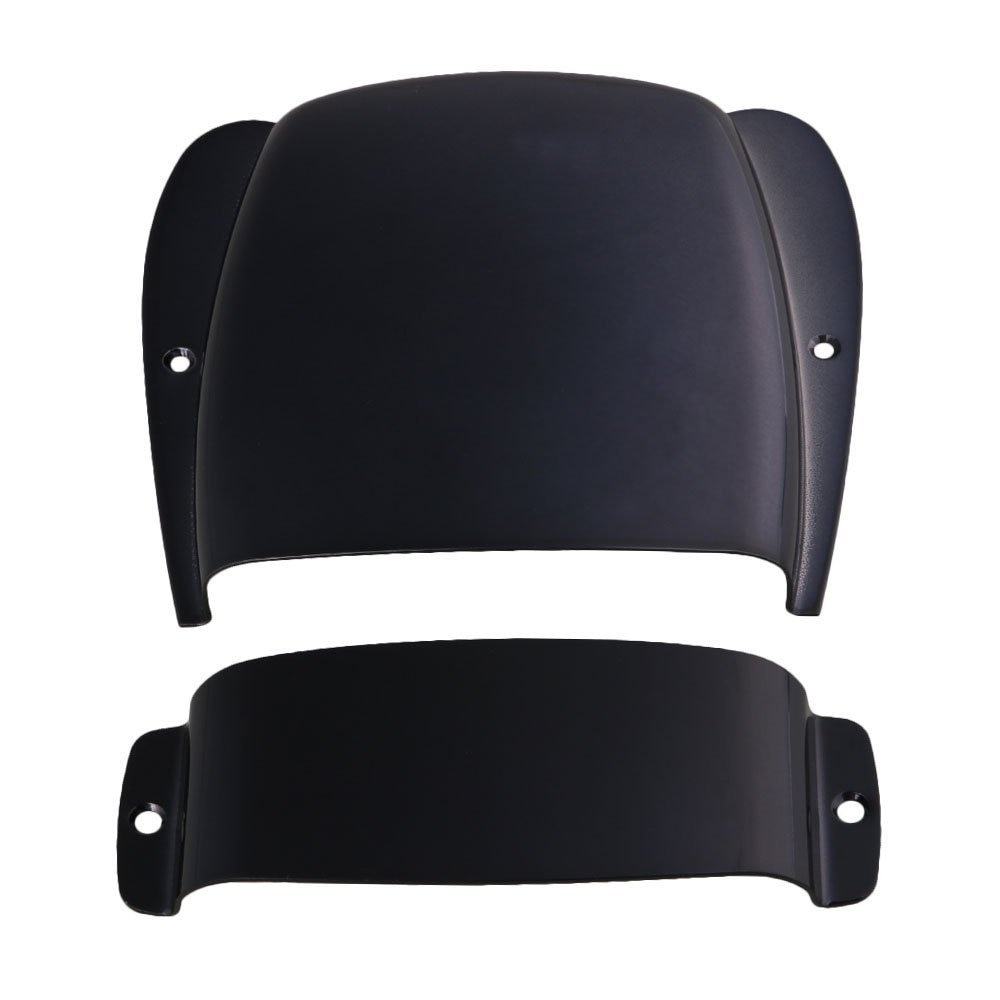 Bridge & Pickup Cover Set Chrome Plated Zinc Alloy Protector for JB Bass Black