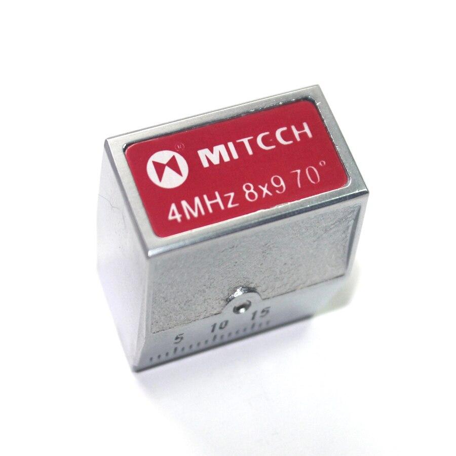 Transductor de sonda de haz de ángulo Mitech de 70 grados 4MHz 8x9mm para Detector de defectos ultrasónico