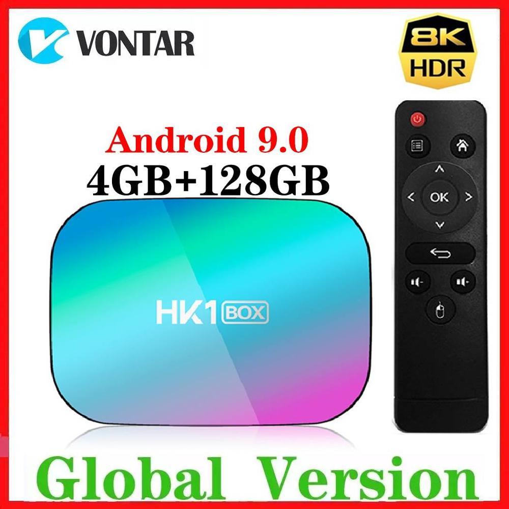 2020 4GB RAM 128GB ROM Amlogic S905X3 8K TV caja Android 9,0 HK1 1000M Dual Wifi reproductor de Google Netflix Reproductor Multimedia Inteligente 2G/8G