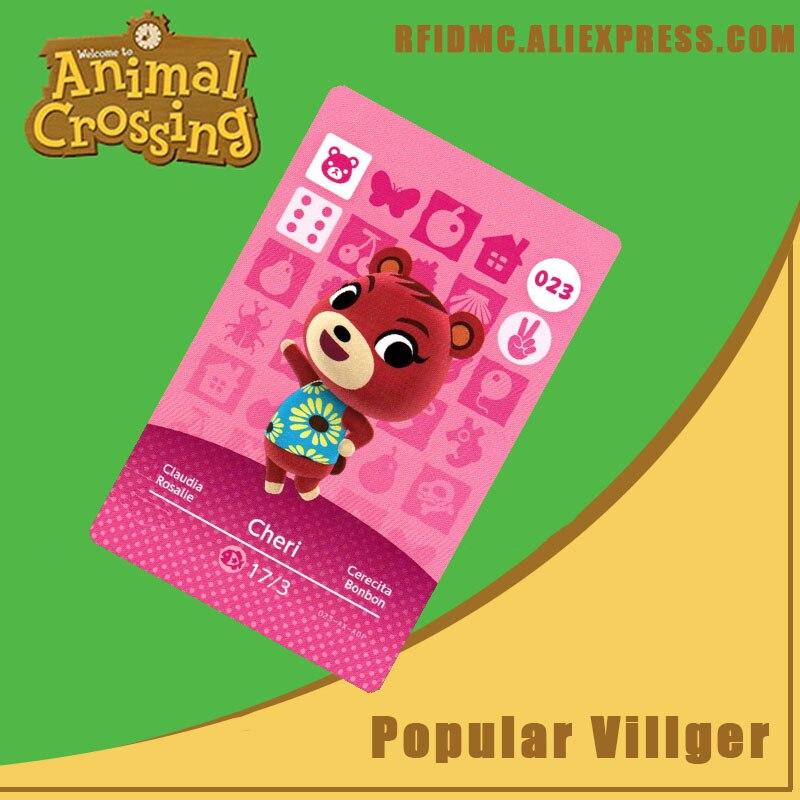 023 cartão de cruzamento animal cheri amiibo para novos horizontes