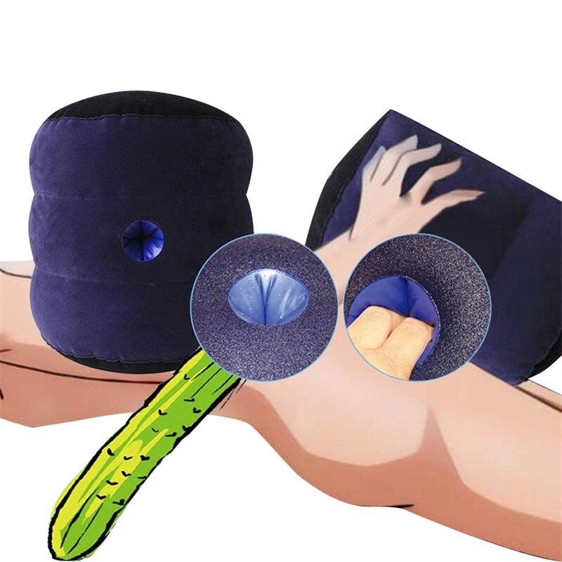 ذكر Mastuburator نفخ وسادة الجنس لعب للرجال جهاز استمناء بولي كلوريد الفينيل واقعية المهبل الحمار الكبير ثقب عميق جهاز الكبار