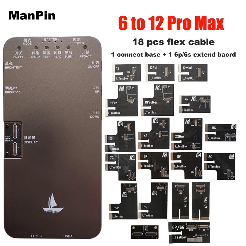 جهاز اختبار شاشة LCD S200 لجهاز iPhone 12Pro MAX Mini 11 Pro XS XR X 8 7 6S 6 Plus أداة اختبار اللمس ثلاثية الأبعاد TP