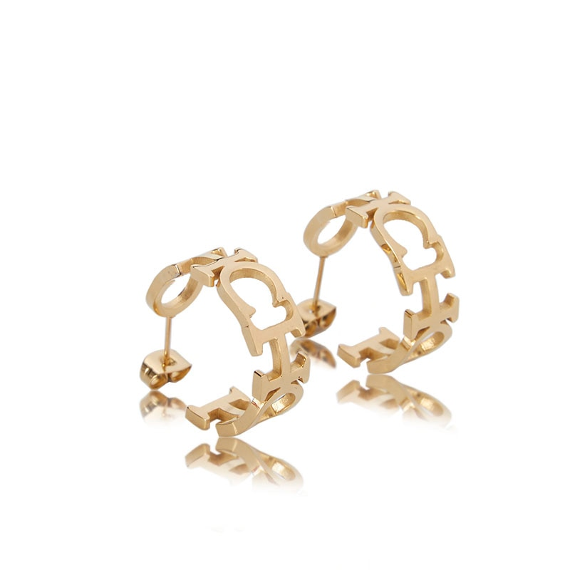 AliExpress - CHCH 2021 Fashion Luxury Designer Earring Shiny Gold Steel Jewelry and Accessories Gift  for Women