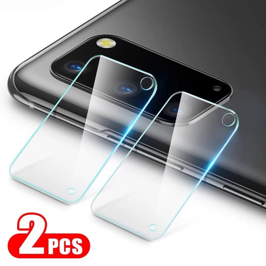Película de vidro para câmera samsung, 2 peças, para galaxy s 20 ultra s20 plus, s20 fe, s20 e s20 plus
