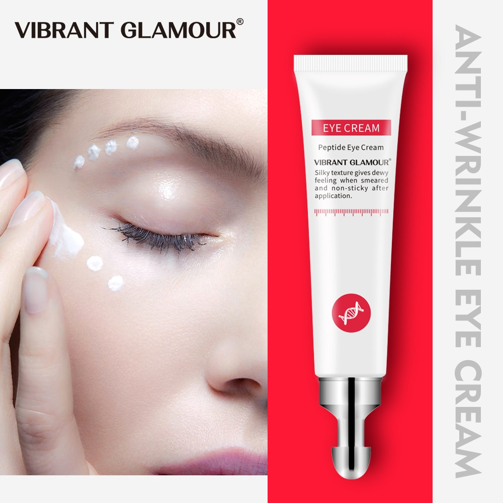 VIBRANT GLAMOUR Eye Cream Peptide Collagen Serum Anti-Wrinkle Anti-Age Remover Dark Circles Eye Care