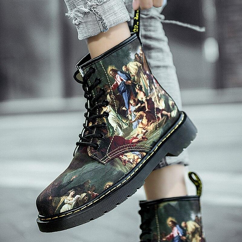British Canvas Shoes Martin Boots Men Original Casual Women Sneakers Designer High Quality Fashion F